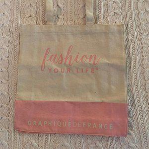 Pink Fashion Your Life Graphique de France Canvas
